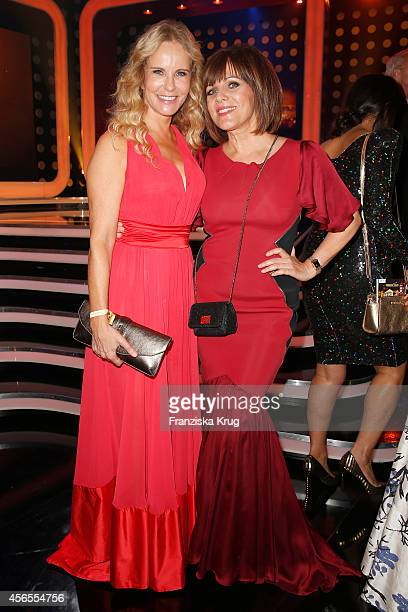 Katja Burkard and Birgit Schrowange attend the Deutscher Fernsehpreis 2014 after show party on October 02 2014 in Cologne Germany
