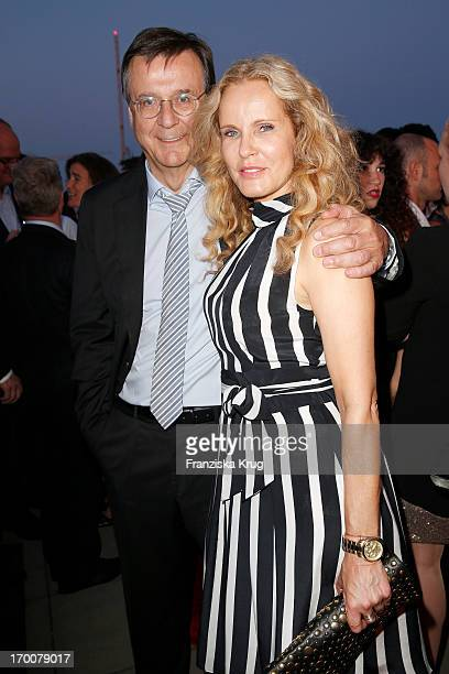 Katja Burkard and Hans Mahr attend the Bertelsmann Summer Party at the Bertelsmann representative office on June 6 2013 in Berlin Germany
