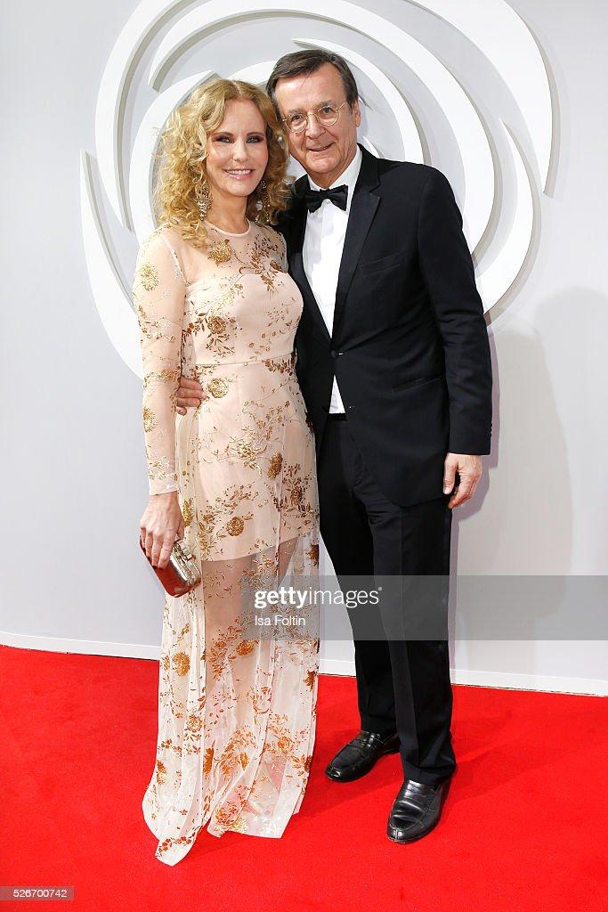 Katja Burkard and her husband Hans Mahr attend the Rosenball 2016 on April 30, 2016 in Berlin, Germany.