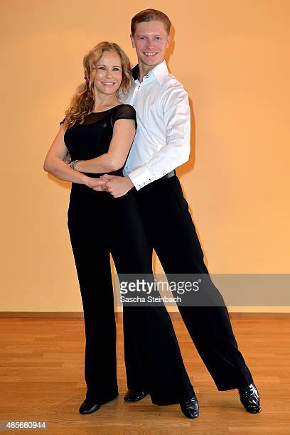 Katja Burkard and Paul Lorenz pose at a photo call for the television competition 'Let's Dance' on March 9 2015 in Cologne Germany On March 13th the...