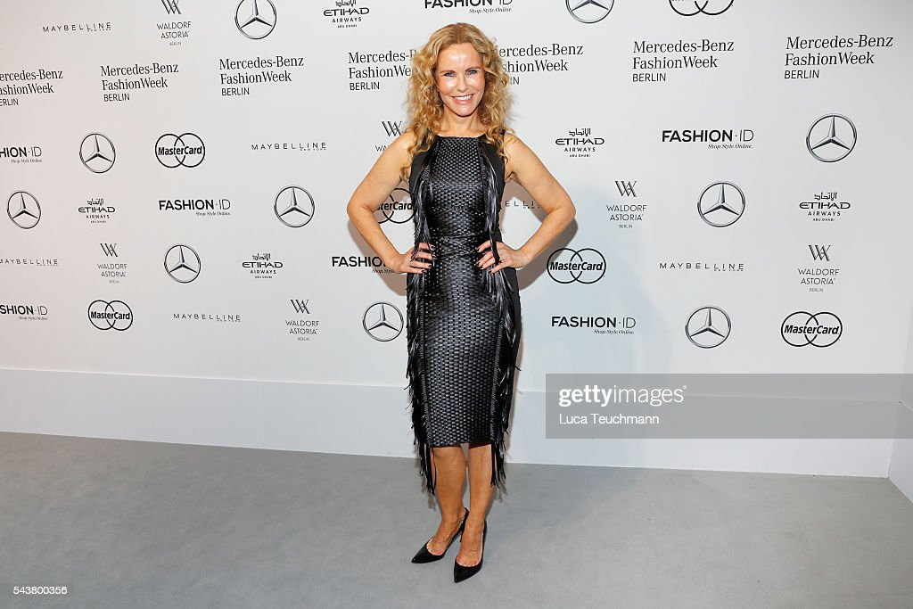 <a gi-track='captionPersonalityLinkClicked' href=/galleries/search?phrase=Katja+Burkard&family=editorial&specificpeople=228035 ng-click='$event.stopPropagation()'>Katja Burkard</a> attends the Dimitri show during the Mercedes-Benz Fashion Week Berlin Spring/Summer 2017 at Erika Hess Eisstadion on June 30, 2016 in Berlin, Germany.