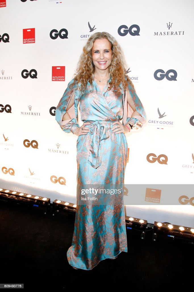 Katja Burkard attends the GQ Mension Style Party 2017 at Austernbank on July 5, 2017 in Berlin, Germany.