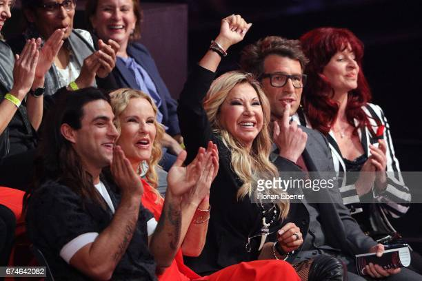Katja Burkard Carmen Geiss and Daniel Hartwich during the 6th show of the tenth season of the television competition 'Let's Dance' on April 28 2017...