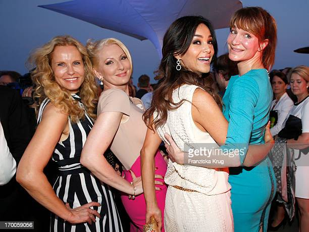 Katja Burkard Desiree Nick Alexandra Kamp and Verona Pooth attend the Bertelsmann Summer Party at the Bertelsmann representative office on June 6...