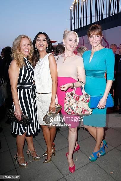 Katja Burkard Verona Pooth Desiree Nick and Alexandra Kamp attend the Bertelsmann Summer Party at the Bertelsmann representative office on June 6...