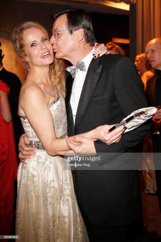 Katja Burkhard and Hans Mahr attend 'Goldene Kamera 2013' at Axel Springer Haus on February 2, 2013 in Berlin, Germany.