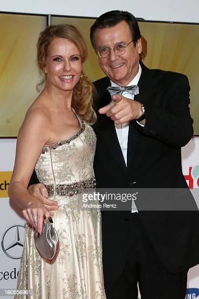 Katja Burkhard and Hans Mahr attends 'Goldene Kamera 2013' at Axel Springer Haus on February 2 2013 in Berlin Germany