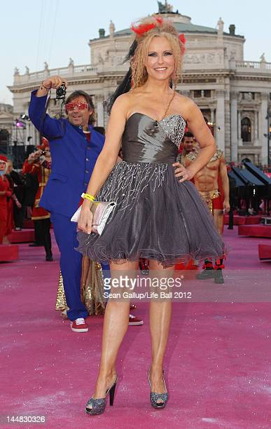 Katja Burkhard attends the Life Ball 2012 AIDS charity fundraiser at City Hall on May 19 2012 in Vienna Austria