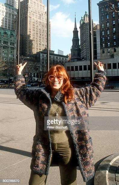 'Katja Ebstein Urlaub am in New York USA '