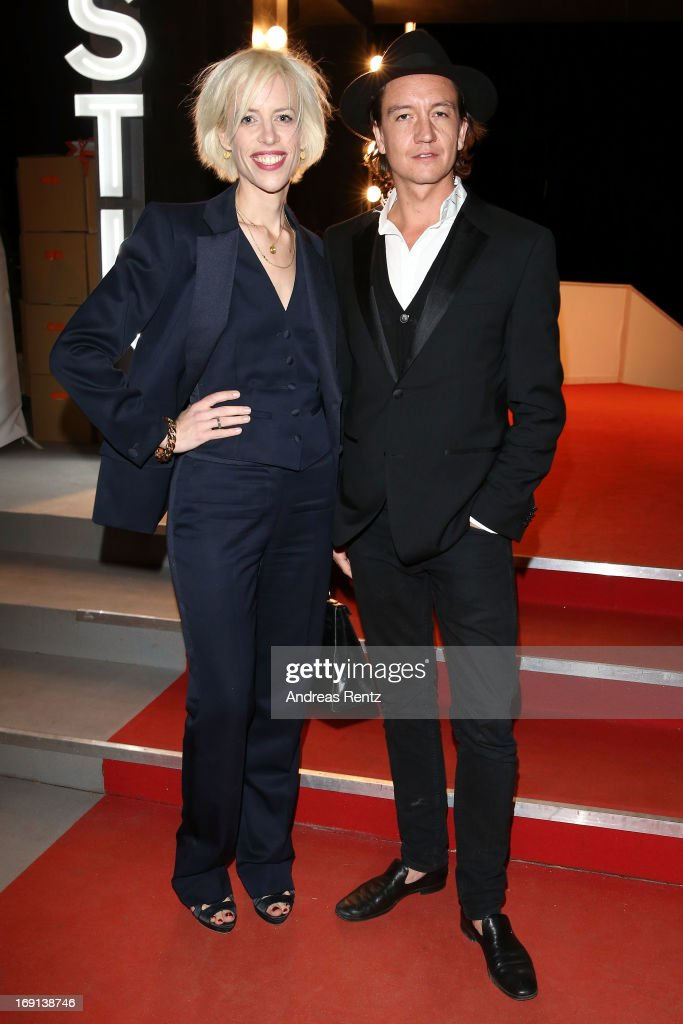 Katja Eichinger and Anthony Jamesattends the German Films reception during the 66th Annual Cannes Film Festival at the Majestic Beach on May 20, 2013 in Cannes, France.