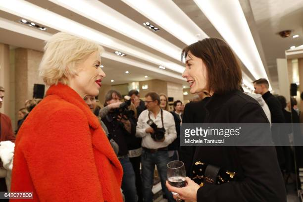 Katja Eichinger and Christiane Paul at the Sparkling Looks reception and trunk show at KaDeWe on February 16 2017 in Berlin Germany