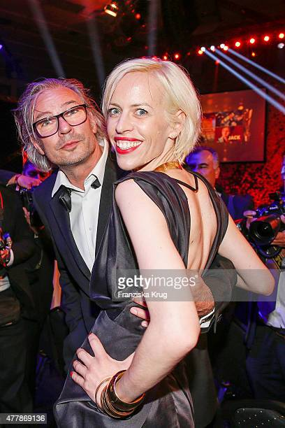 Katja Eichinger and guest attend the German Film Award 2015 Lola show at Messe Berlin on June 19 2015 in Berlin Germany