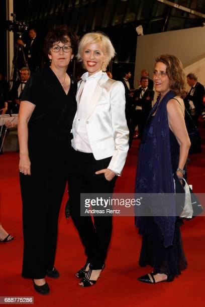 Katja Eichinger and guests attend the 'In The Fade ' screening during the 70th annual Cannes Film Festival at Palais des Festivals on May 26 2017 in...