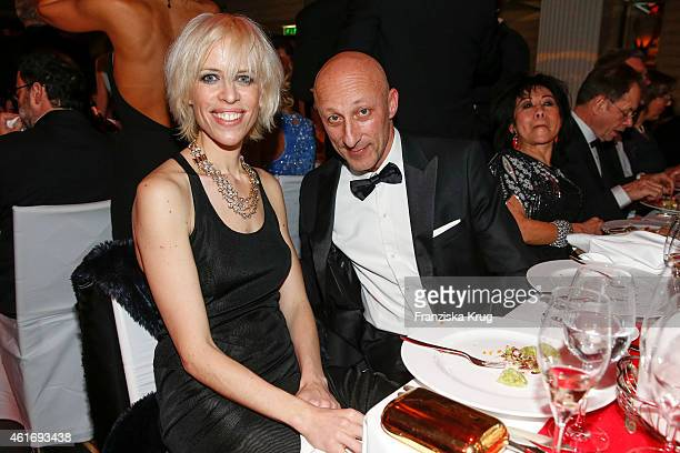 Katja Eichinger and Oliver Hirschbiegel attend the German Film Ball 2015 on January 17 2015 in Munich Germany