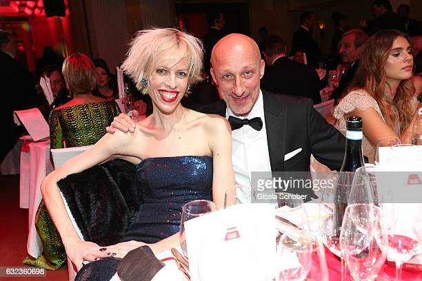 Katja Eichinger and Oliver Hirschbiegel during the 44th German Film Ball 2017 party at Hotel Bayerischer Hof on January 21 2017 in Munich Germany