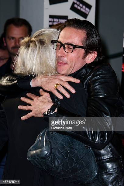 Katja Eichinger and Oskar Roehler Berlin attends the premiere of the film 'Tod den Hippies Es lebe der Punk' at UCI Kinowelt on March 24 2015 in...