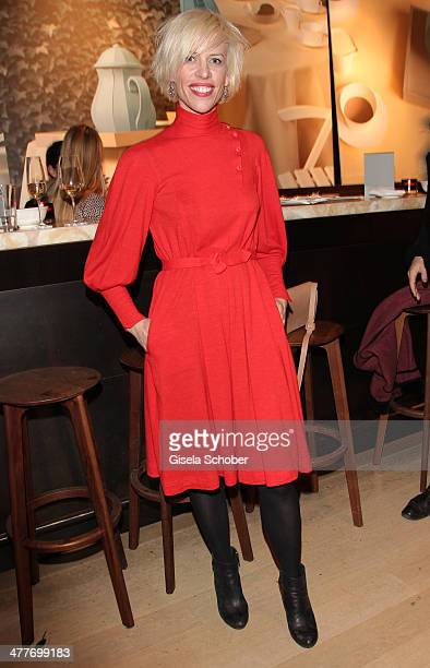 Katja Eichinger attends the 'Art Food' cocktail at Ella restaurant at Lenbachhaus on March 10 2014 in Munich Germany