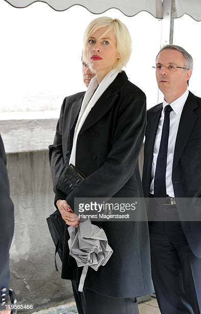 Katja Eichinger attends the funeral ceremony for Leo Kirch at St Michael Kirche on July 22 2011 in Munich Germany Leo Kirch who built one of the...