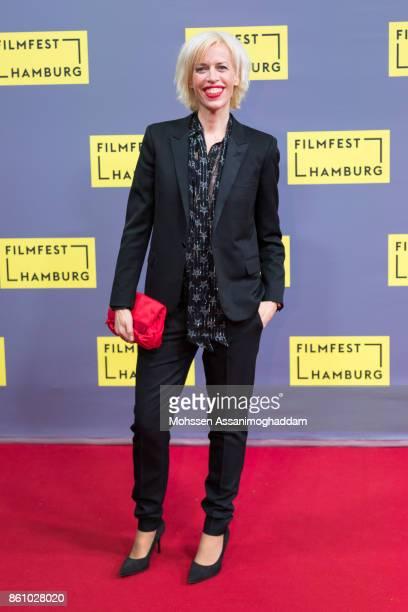 Katja Eichinger poses as she arrives for the Douglas Sirk Award ceremony on October 13 2017 in Hamburg Germany