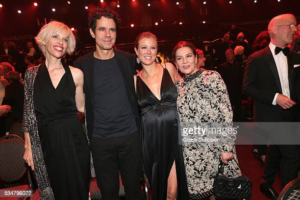 Katja Eichinger Tom Tykwer Nina Eichinger and Hannelore Elsner during the Lola German Film Award 2016 after show party at Palais am Funkturm on May...