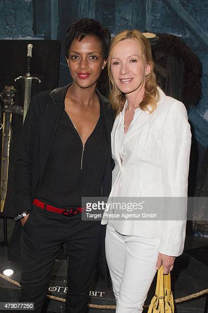 Katja Flint and Dennenesch Zoude attend the pre opening party of the exhibition 'Game of Thrones Die Ausstellung' on May 12 2015 in Berlin Germany