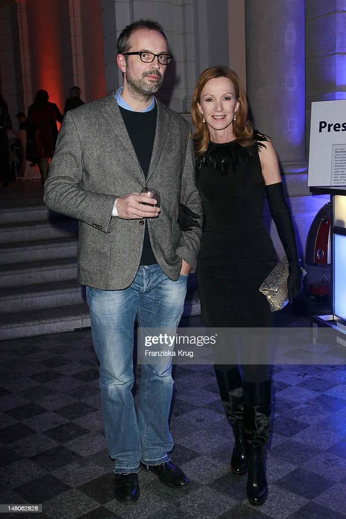 Katja Flint and Gunnar Fuss attend 'ARD Degeto Blue Hour' Party in the Museum of communication in Berlin on February 11 2012 in Berlin Germany