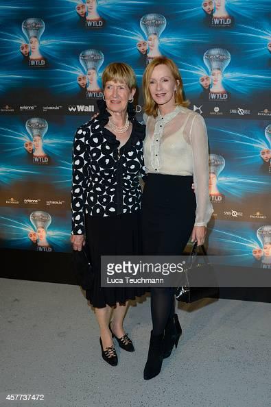 Katja Flint and Irmgard Flint attend 'The Wyld Nicht von dieser Welt' Premiere at FriedrichstadtPalast on October 23 2014 in Berlin Germany