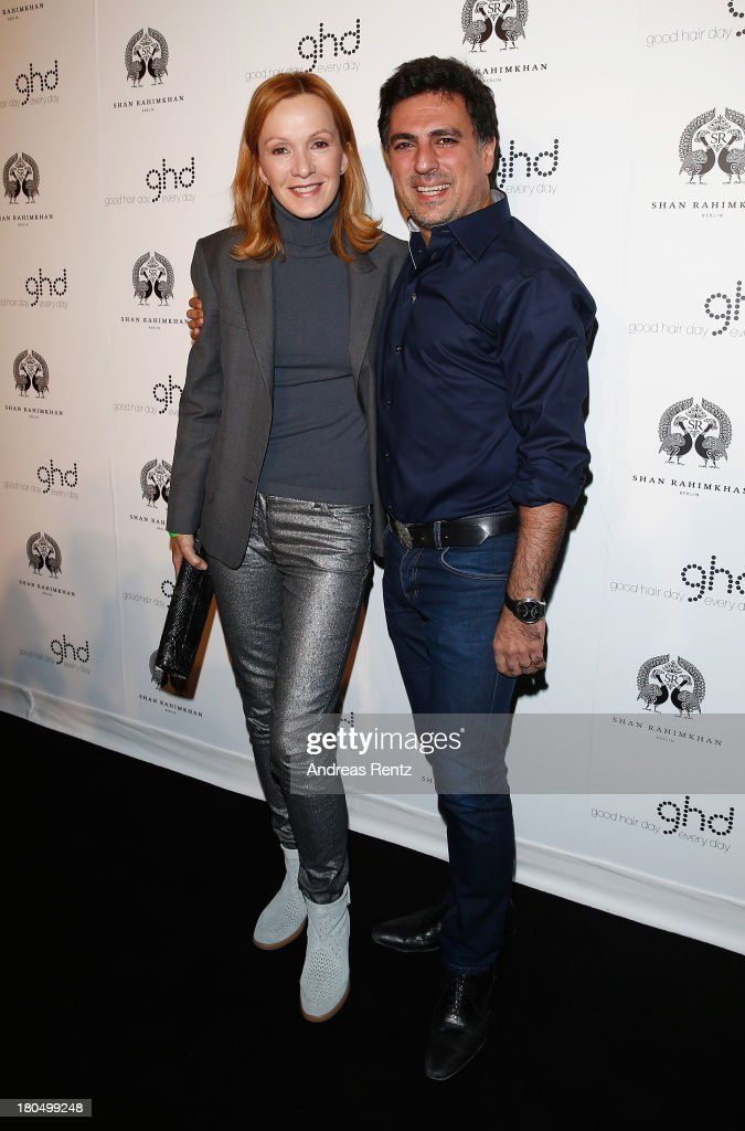 Katja Flint and Shan Rahimkhan attend No1 TRUE BERLIN BY Shan Rahimkhan ghd on September 13 2013 in Berlin Germany
