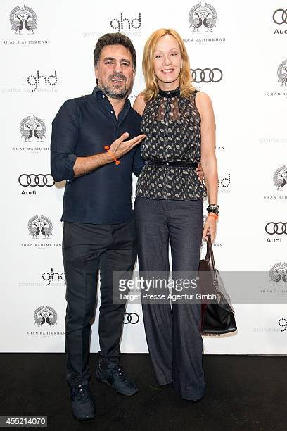 Katja Flint and Shan Rahimkhan attend the True Berlin No 2 by Shan Rahimkhan Ghd on September 10 2014 in Berlin Germany