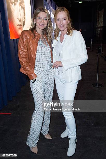 Katja Flint and Ursula Karven attend the pre opening party of the exhibition 'Game of Thrones Die Ausstellung' on May 12 2015 in Berlin Germany