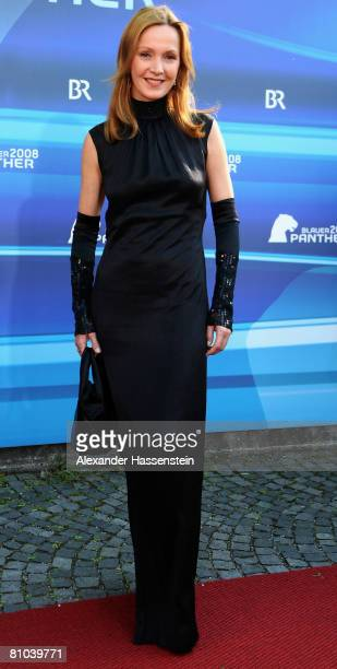 Katja Flint arrives for the Bavarian Television Award 2008 at the Prinzregenten Theatre on 9 May 2009 in Munich Germany