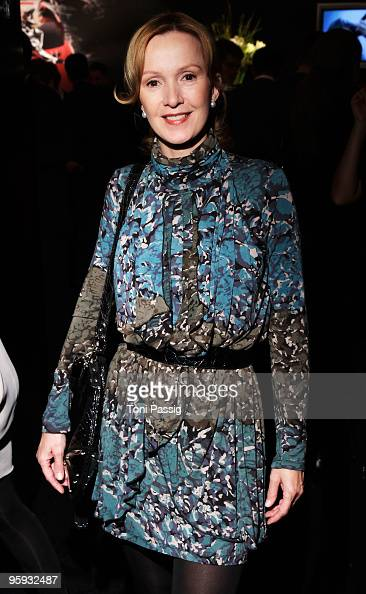 Katja Flint arrives to the Allude Fashion Show during the MercedesBenz Fashion Week Berlin Autumn/Winter 2010 at the Bebelplatz on January 21 2010 in...