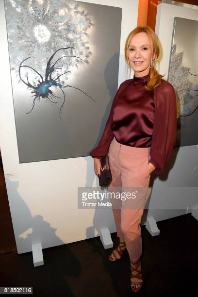 Katja Flint attends the exhibition opening 'Judith Milberg Aus der Mitte' at HypoVereinsbank Charlottenburg on July 18 2017 in Berlin Germany