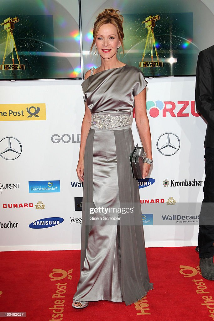 Katja Flint attends the Goldene Kamera 2014 at Tempelhof Airport Hangar 7 on February 1 2014 in Berlin Germany