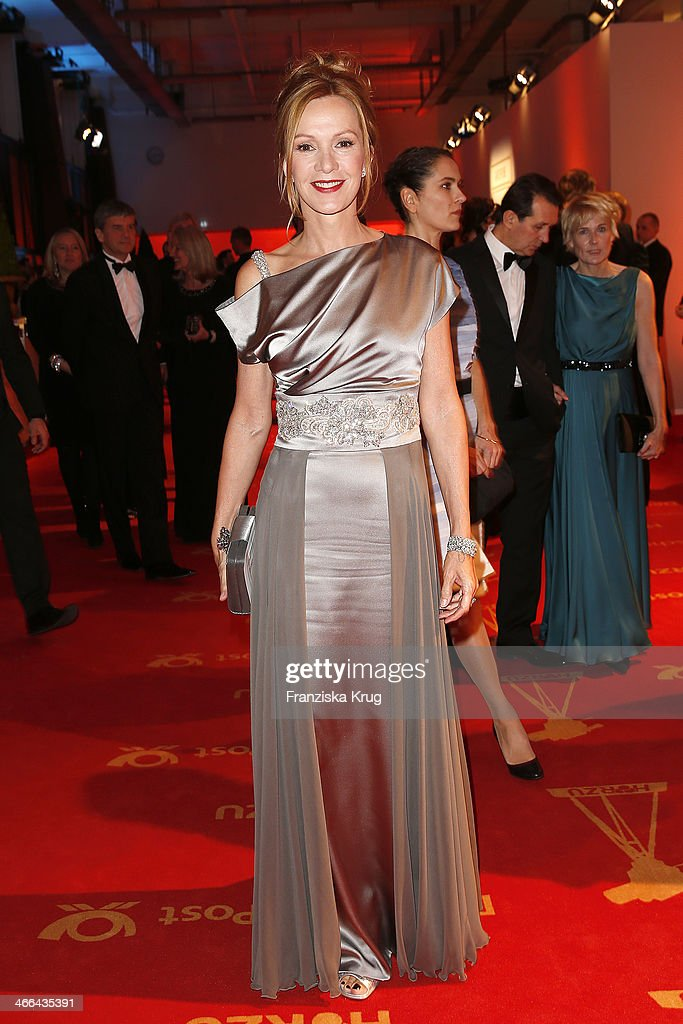 Katja Flint attends the Goldene Kamera 2014 at Tempelhof Airport on February 01 2014 in Berlin Germany