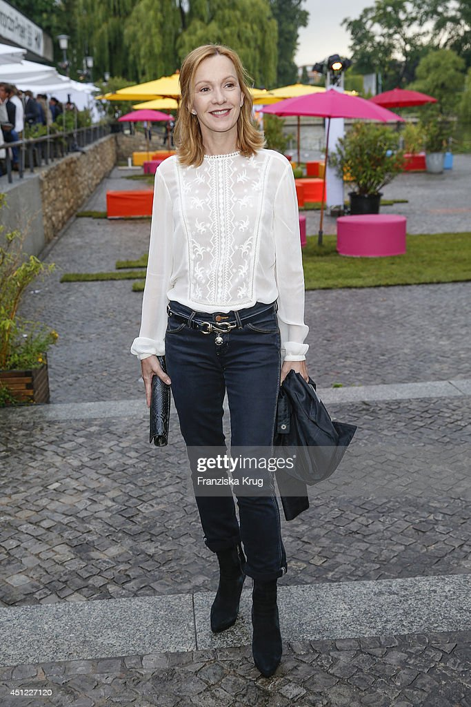 Katja Flint attends the producer party 2014 of the Alliance German Producer Cinema And Television on June 25 2014 in Berlin Germany