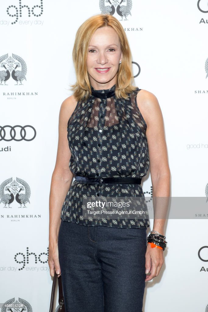 Katja Flint attends the True Berlin No 2 by Shan Rahimkhan Ghd on September 10 2014 in Berlin Germany