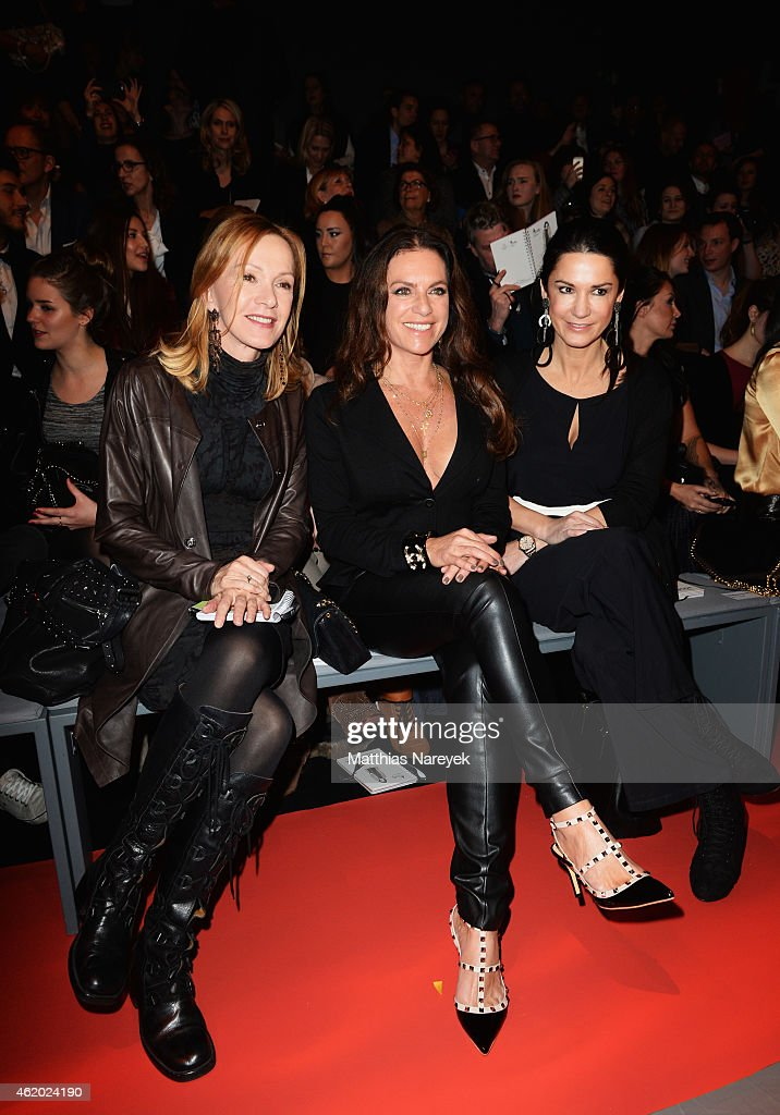 Katja Flint Christine Neubauer and Mariella Ahrens attend the 'Shop the Runway by FASHION ID' show during the MercedesBenz Fashion Week Berlin...