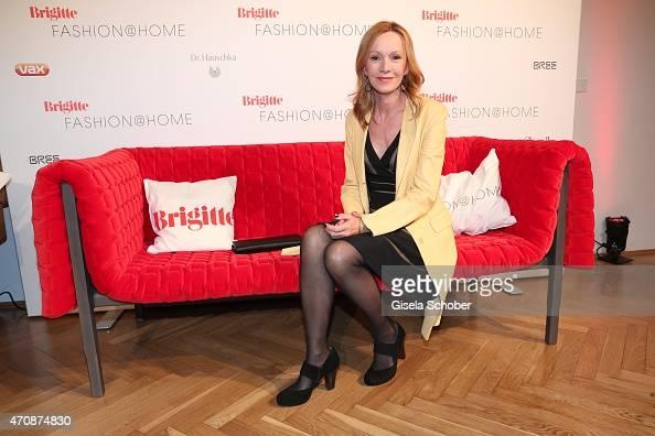 Katja Flint during the Brigitte Fashion @Home event on April 23 2015 in Munich Germany