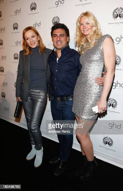 Katja Flint Shan Rahimkhan and Britta Steffen attend No1 TRUE BERLIN BY Shan Rahimkhan ghd on September 13 2013 in Berlin Germany