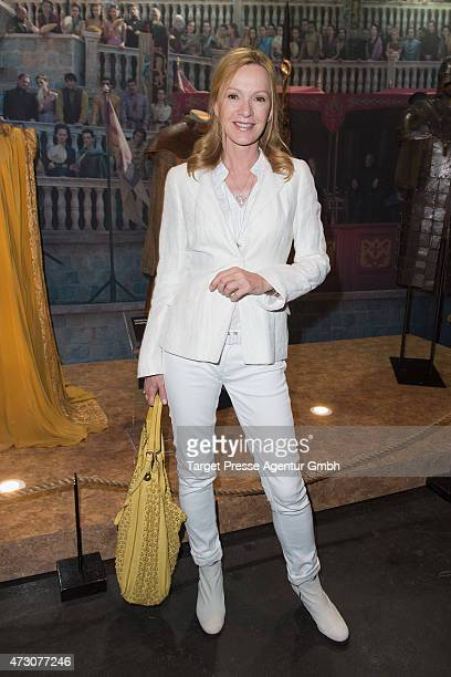Katja Flint the pre opening party of the exhibition 'Game of Thrones Die Ausstellung' on May 12 2015 in Berlin Germany