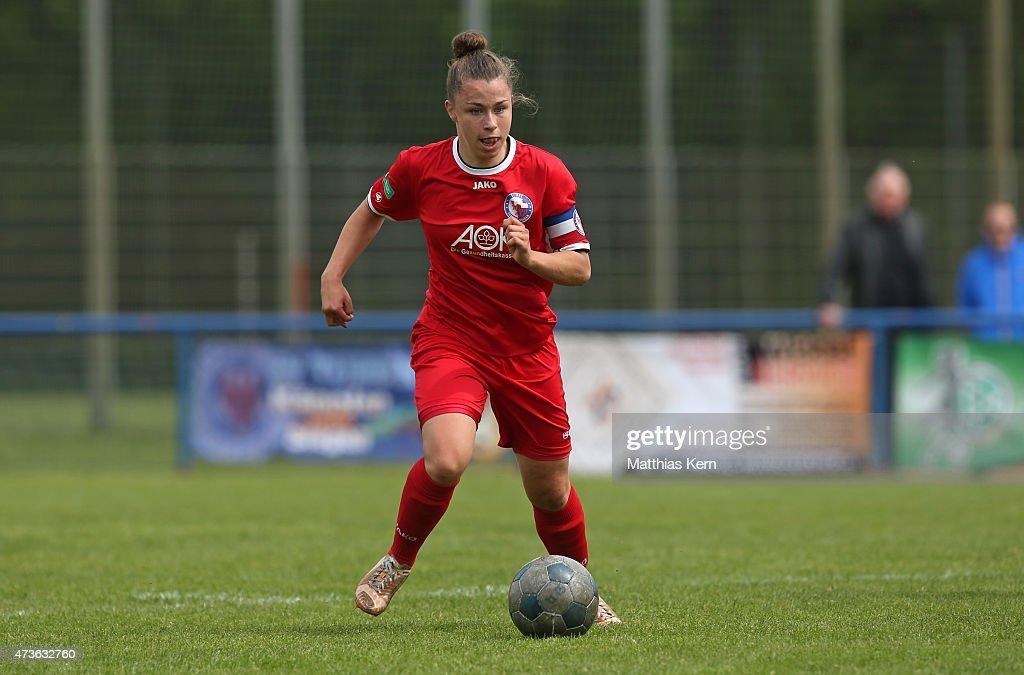 Katja Friedl of Potsdam runs with the ball during the U17 Girl's Bundesliga semi final first leg match between Turbine Potsdam and FSV Guetersloh...