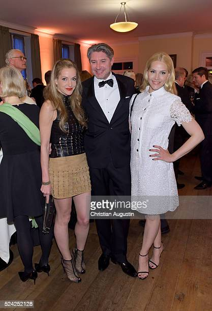 Katja Kessler Andreas Pfaff and Judith Rakers attend the 'Champagnepreis fuer Lebensfreude' at Hotel Louis C Jacob on April 25 2016 in Hamburg Germany