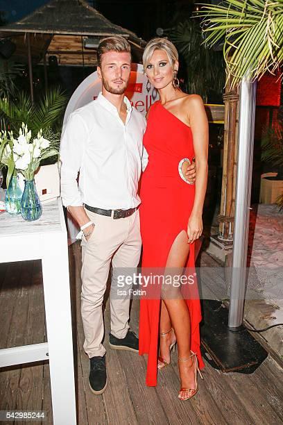 Katja Kuehne and her boyfriend Quirin Moll attend the Raffaello Summer Day 2016 to celebrate the 26th anniversary of Raffaello on June 24 2016 in...