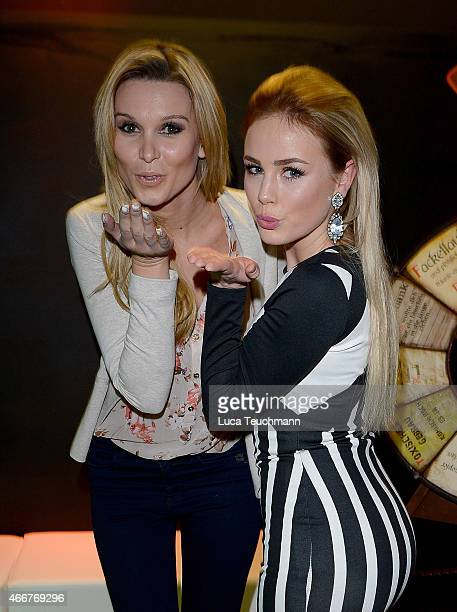 Katja Kuehne and Liz Kaeber attend 'Revolution 1848' Show Premiere at Berlin Dungeon on March 18 2015 in Berlin Germany