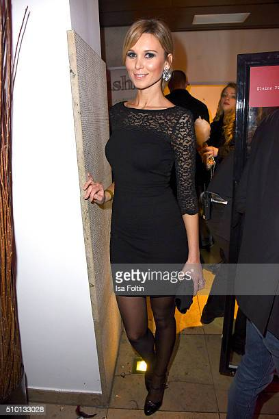 Katja Kuehne attends the LB Party In Berlin on February 13 2016 in Berlin Germany