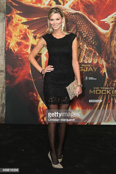 Katja Kuehne attends the 'The Hunger Games Mockingjay Part 1' preview event at Kraftwerk Mitte on November 11 2014 in Berlin Germany