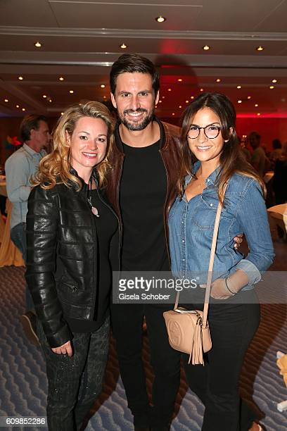 Katja Ohneck Tom Beck and his girlfriend Chryssanthi Kavazi during the surprise party for Erdogan Atalay's 50th birthday at Hotel Arkona on September...