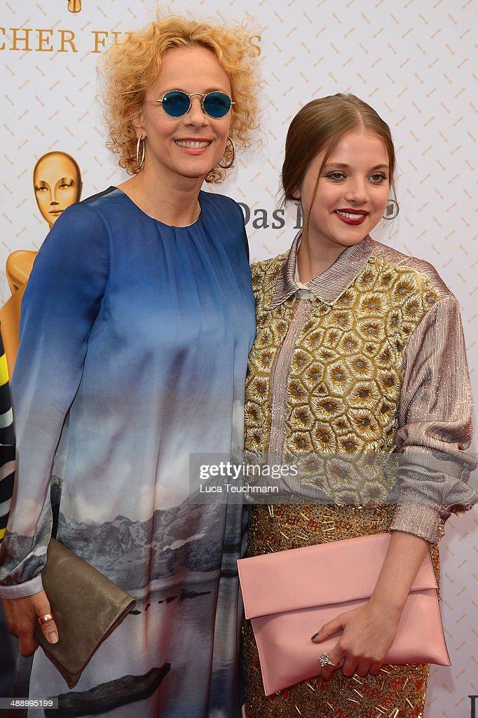 Katja Riemann and Jella Hase attend the Lola - German Film Award 2014 at Tempodrom on May 9, 2014 in Berlin, Germany.