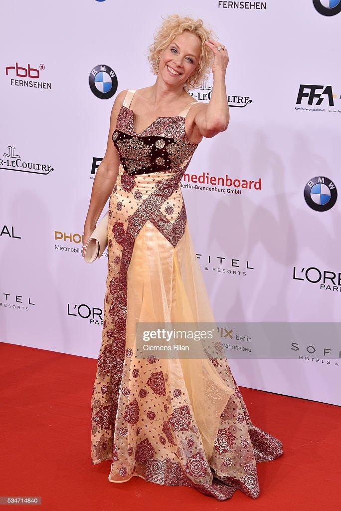 Katja Riemann attends the Lola - German Film Award (Deutscher Filmpreis) on May 27, 2016 in Berlin, Germany.